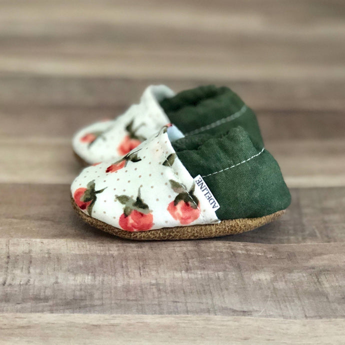 Rosebud and Olive Low Top Moccasins