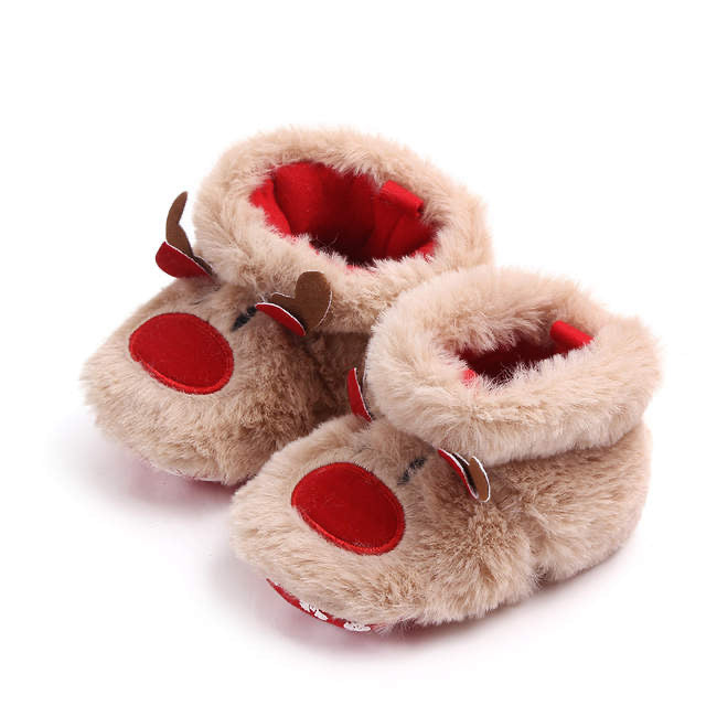 Rudolph The Red Nosed Reindeer Fuzzy Booties