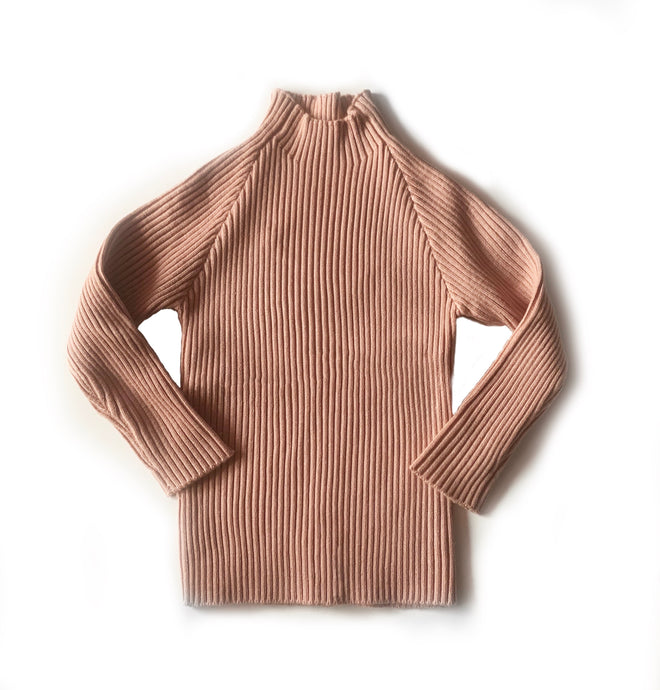 Rib Lovin' Sweater in Salmon