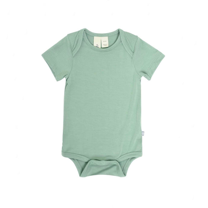 Solid Short Sleeve Bodysuit in Matcha