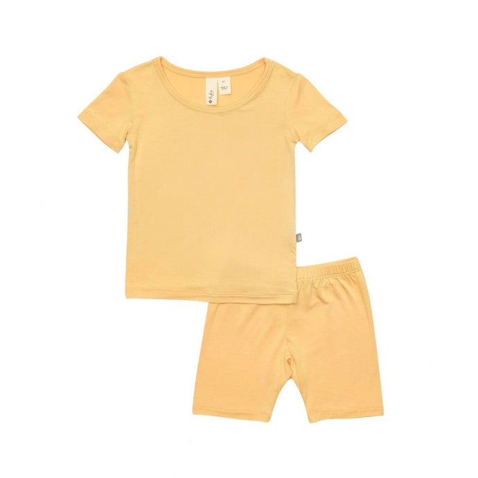 Short Sleeve Toddler Pajama Set in Honey