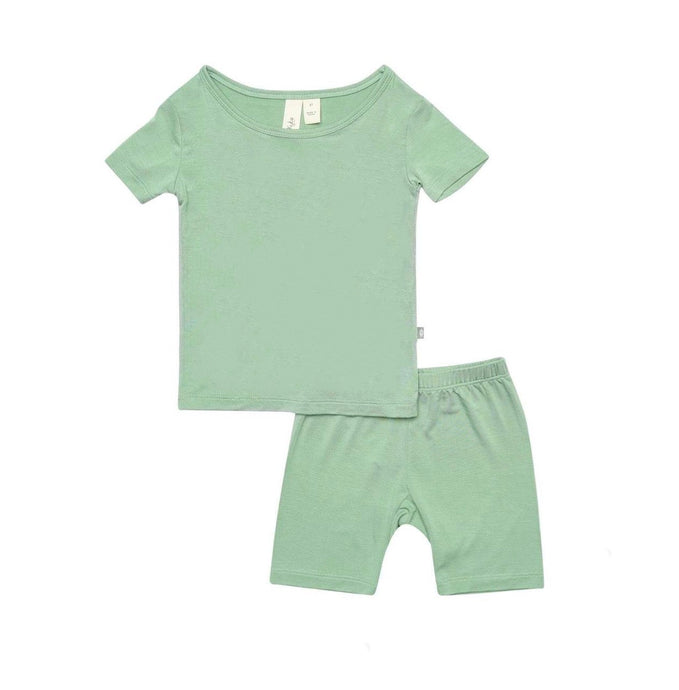 Short Sleeve Toddler Pajama Set in Matcha
