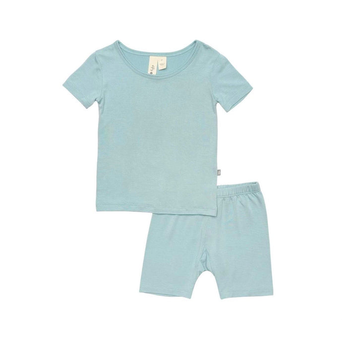Short Sleeve Baby Pajama Set in Seafoam