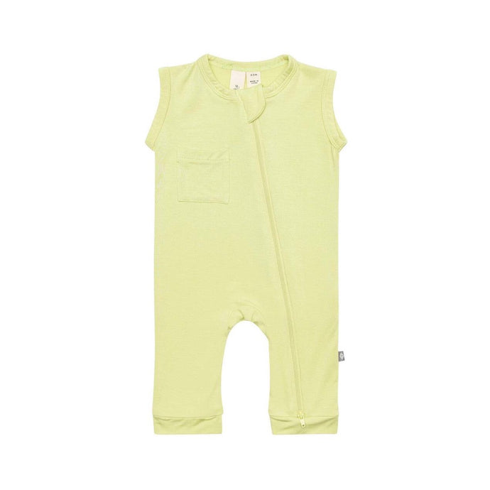 Kyte Baby Sleeveless Footless Zippered Romper in Kiwi