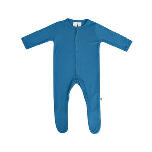 Solid Footed Onesie in Teal