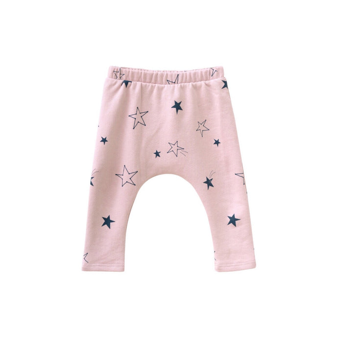 Star Sweatpants in Powder Pink