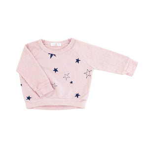 Star Sweatshirt in Powder Pink