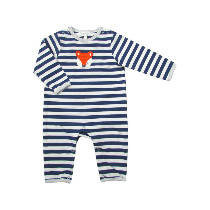 Striped Crochet Fox Onesie