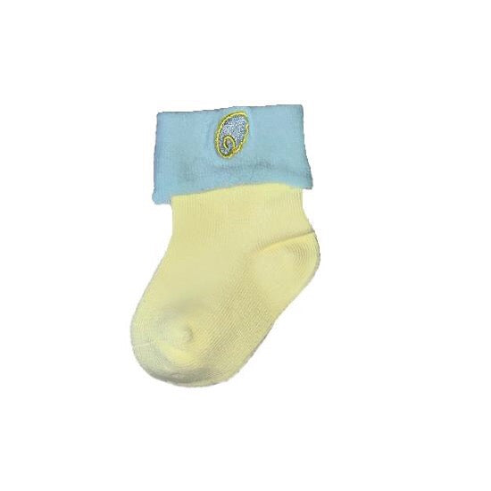 Baby Cuffed Colorblock Symbol Socks