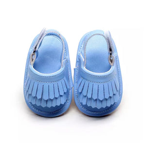 Tassel Me Up Baby Sandal in Baby Blue