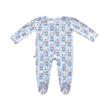 Load image into Gallery viewer, The Good Bunny Bamboo Zippered Footed Onesie
