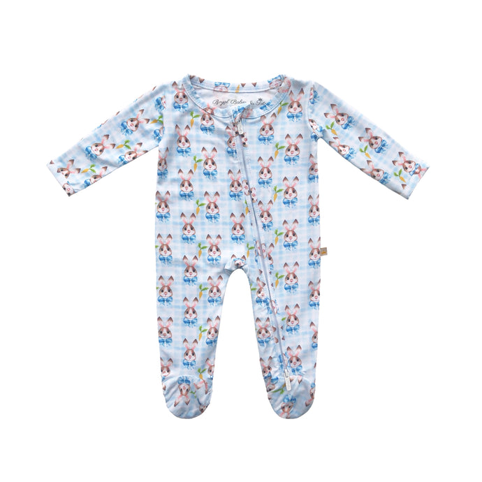 The Good Bunny Bamboo Zippered Footed Onesie