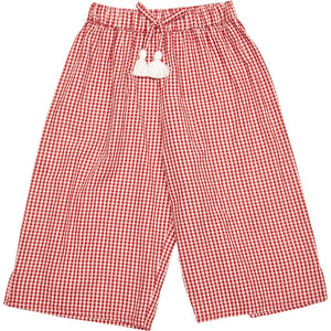 Theodore Red Gingham Pants