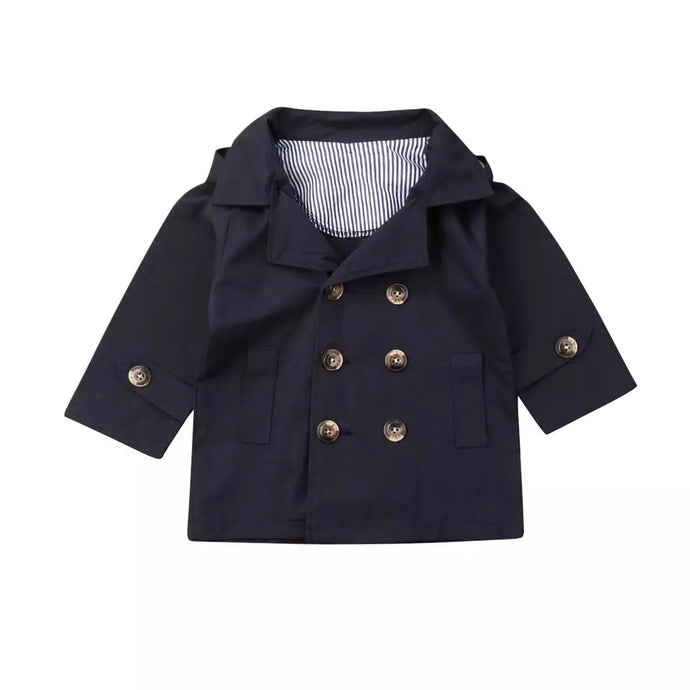 Baby Trench Coat in Navy