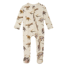 Load image into Gallery viewer, Posh Peanut Vintage Dino Footie Zippered One Piece