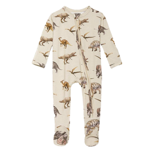 Posh Peanut Vintage Dino Footie Zippered One Piece
