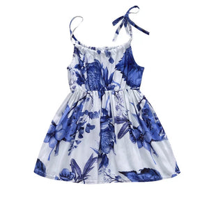 Watercolor Floral Spaghetti Strap Baby Dress