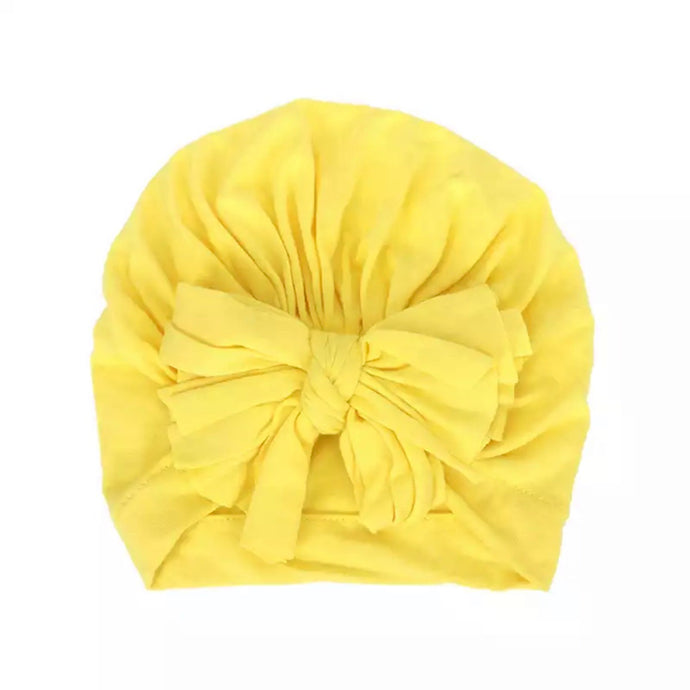 Yellow Bow Turban