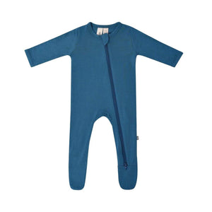 Kyte Baby Zippered Footed Onesie in Teal