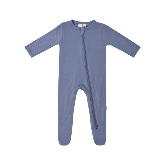 Zippered Footed Onesie in Slate