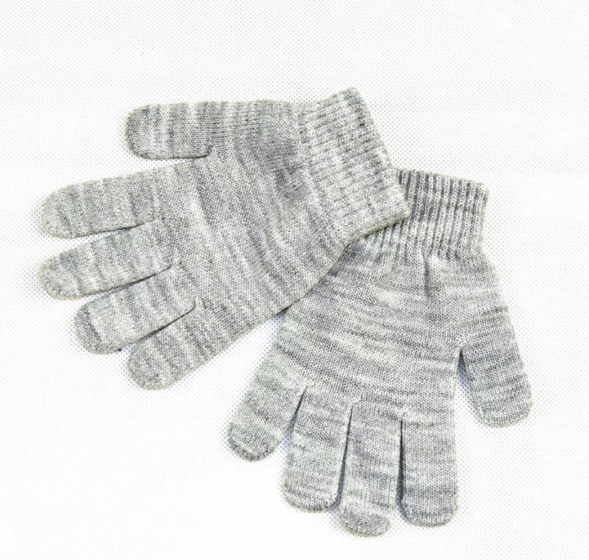 Knitted Gloves in Gray