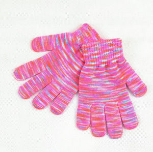 Knitted Gloves in Pink