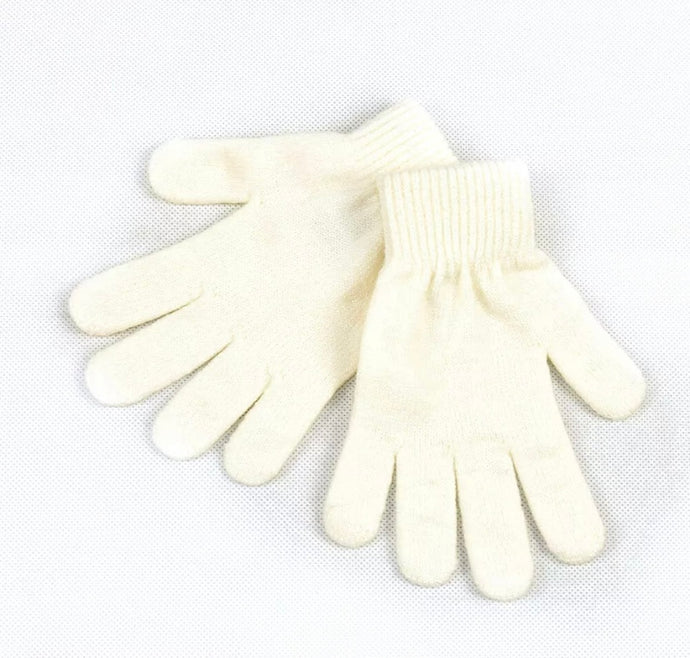 Knitted Gloves in White