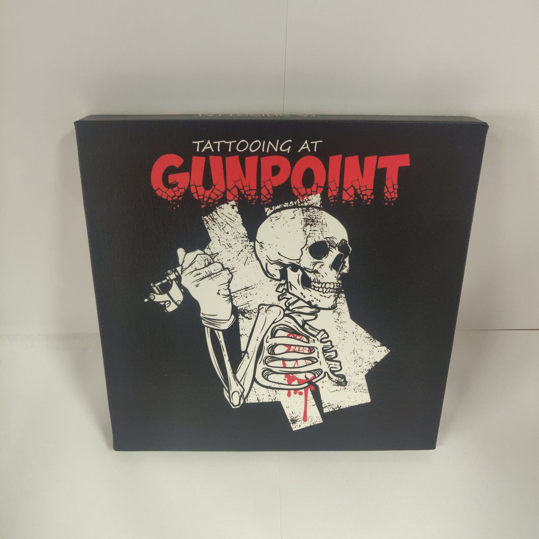 GUNPOINT ORIGINALS: dead tattooist 20 x 20 cm canvas print