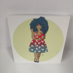 GUNPOINT ORIGINALS: Cute 20 x 20 cm canvas print.