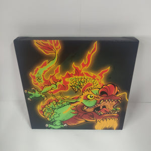 GUNPOINT ORIGINALS: Dragon 20 x 20 cm canvas print