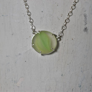 Marble Sea Glass Necklace