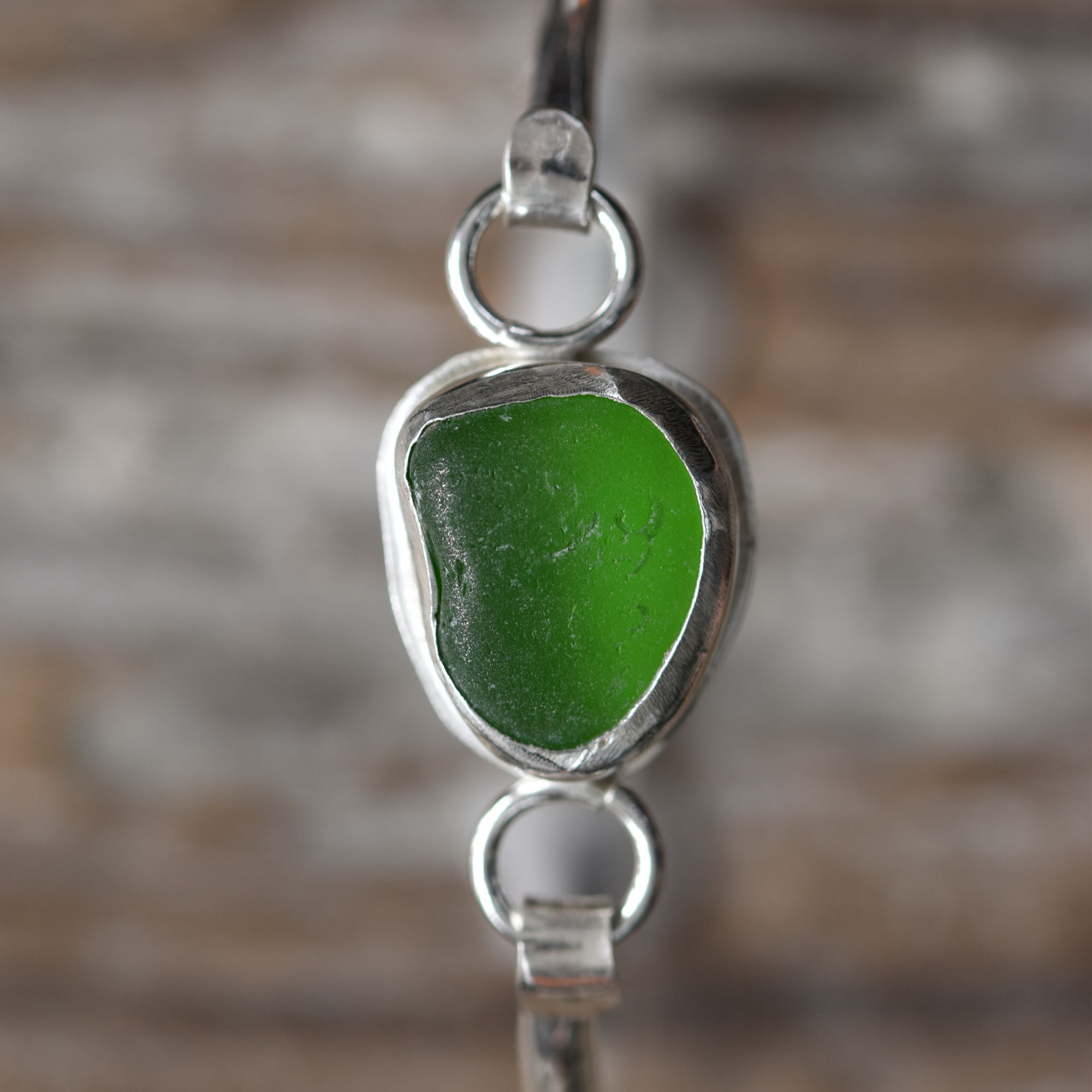 Sea Glass Bracelet  -Green