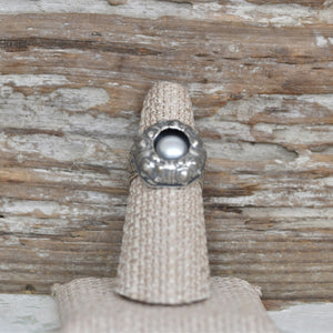 Pearl and Sea Urchin Ring