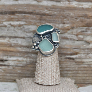 Statement Sea Glass Ring