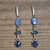 Blue Jean  Bling Earrings