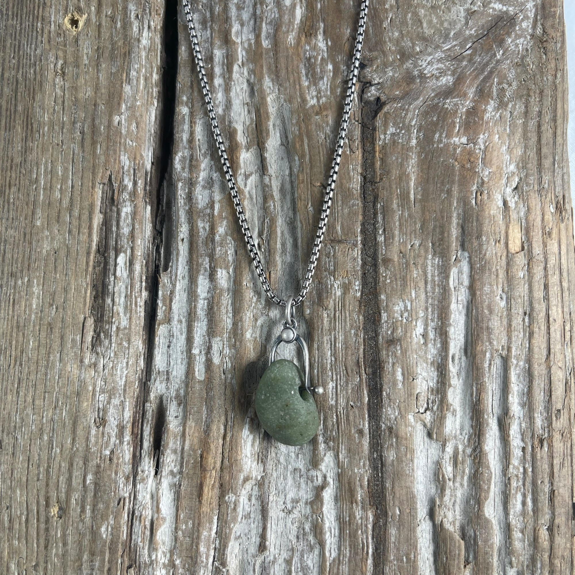 Simple Leland Green Necklace