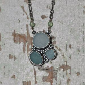 Sea Glass Necklace--Melody of Three