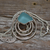 Aqua Sea Glass Necklace--Running in Circles