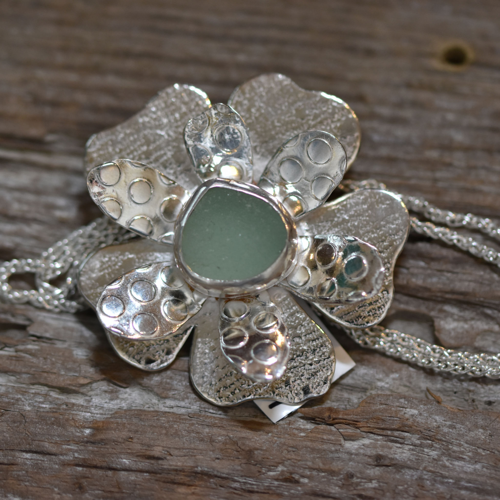 Sea Glass Necklace-Flower Power