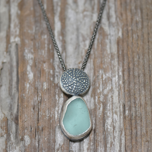 Sea Glass Necklace--Preserved Treasure