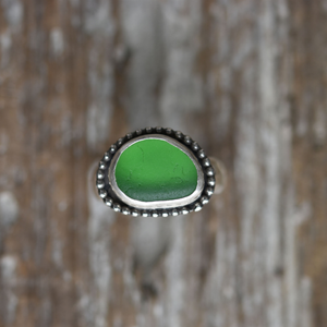 Sea Glass Ring - Go Green Ring