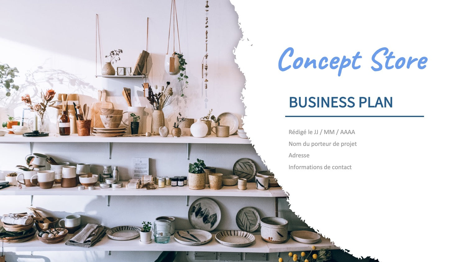 business plan concept store
