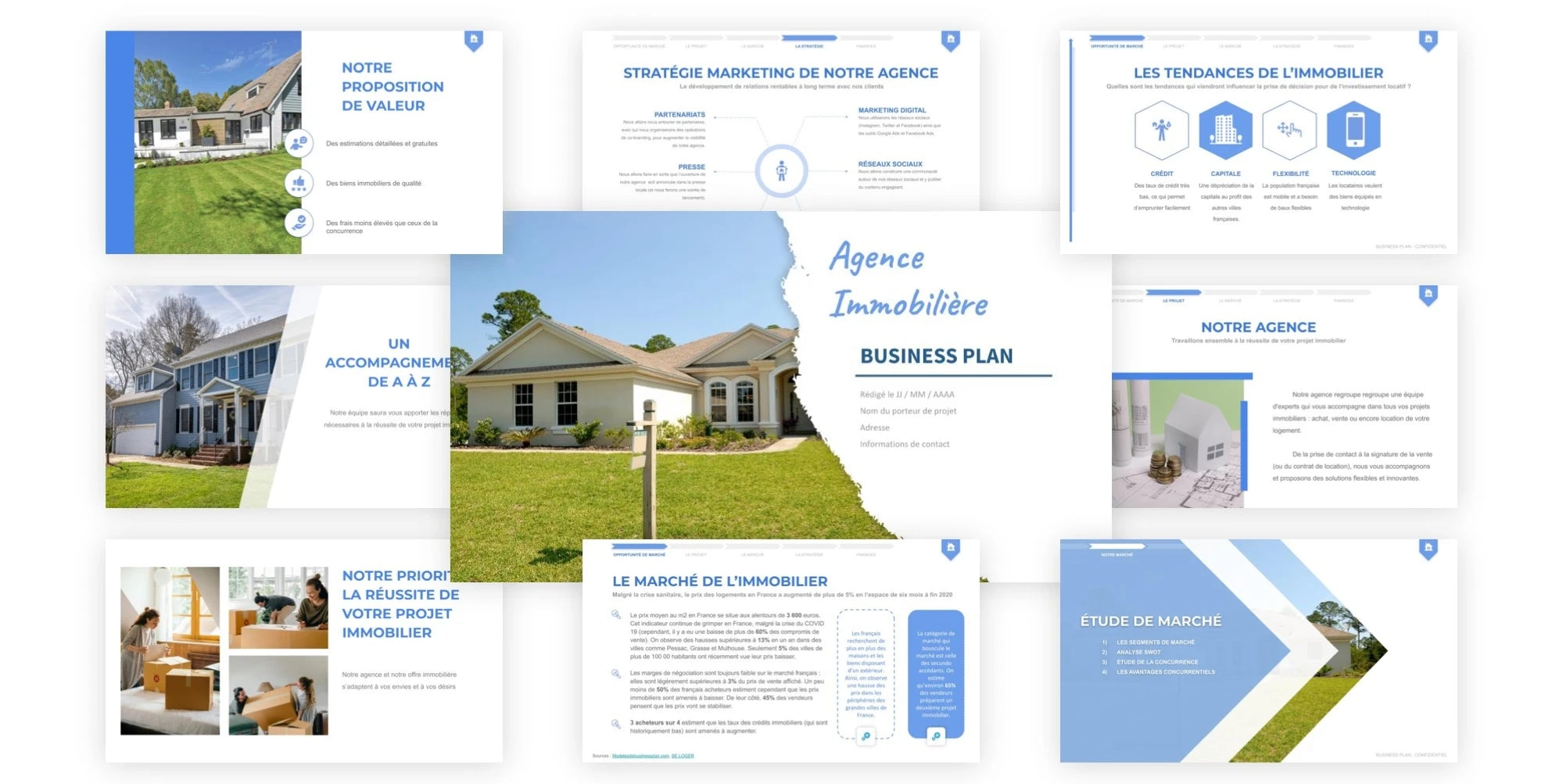agence immobiliere business plan
