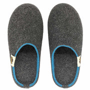 Outback Slipper - Charcoal & Turquoise