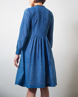 Reworked, Indigo-Dyed Prairie Dress