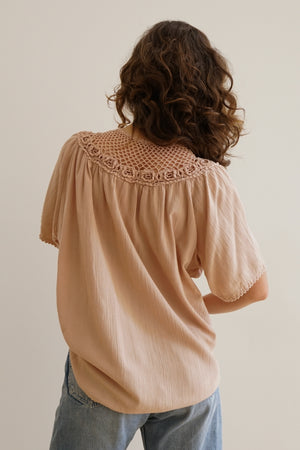 Crochet Peasant Top in Cutch