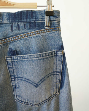 Reworked and Repaired Denim 28W