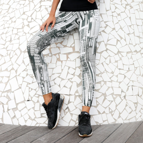 High Waisted Leggings Grey