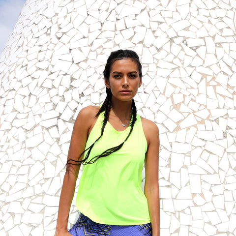Top Workout Activewear Tank Top Neon Yellow