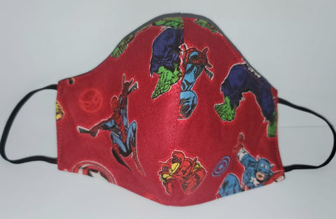FACE MASK - Red Super Hero